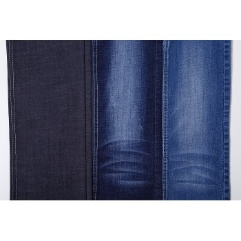 High quality stretch woven denim printed for garment viscose cotton fabric