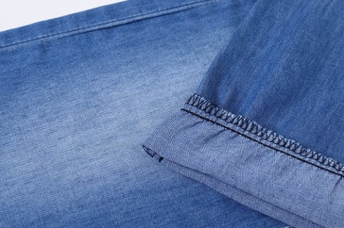 Fashion new arrivals woven high-stretch jeans 100% cotton stretch twill fabric