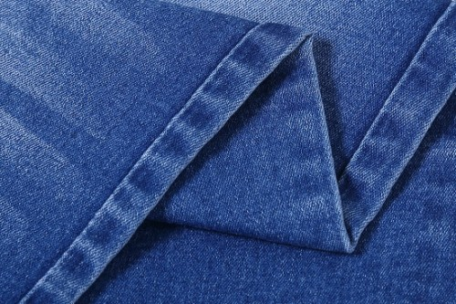 Hot selling denim blended cotton fabric price print blended poly viscose fabric