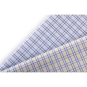 High Density Fashion 100% Cotton Plaid Stretch Fabrics Woven Fabric for shirting