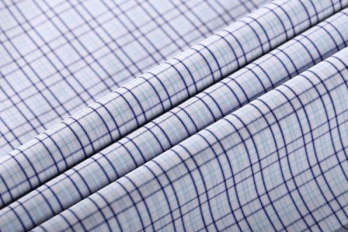 High Density Fashion 100% Cotton Plaid Stretch Fabrics Woven Fabric for shirting