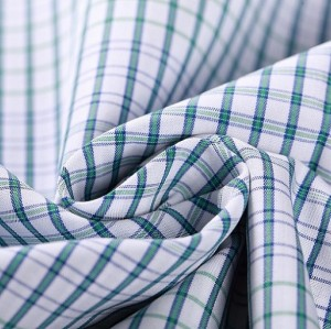 Newest cotton plaid shirt fabric stocklot good quality 100% cotton clothing woven fabric