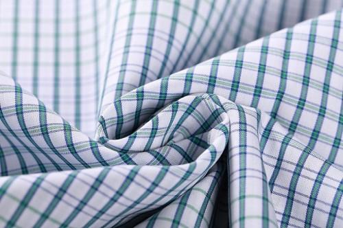 Newest cotton plaid shirt fabric stocklot good quality 100% cotton clothing woven fabric