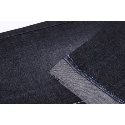 Factory wholesale 100% cotton material textile cloth for jeans printed black custom cotton denim