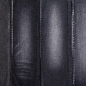 Factory wholesale 100% cotton material textile cloth for jeans printed black custom cotton denim