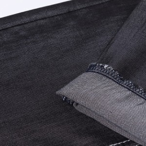 Hot selling good quality stretch black denim fabric wholesale
