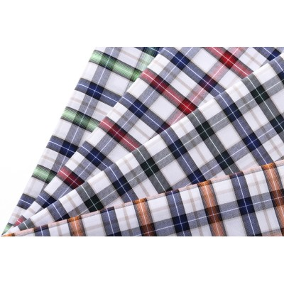 2019 Hot sale 100% Cotton Textile Fabrics  Plaid 50s*50s Fabric for shirting.