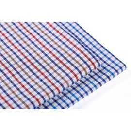 New model fashion check shirting woven fabrics wholesale 100% cotton fabric for shirting