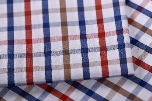 New model fashion check shirting woven fabrics wholesale 100% cotton fabric for shirting