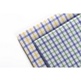 2019 top selling custom plaid clothing fabric 50s yarn dyed 100% cotton fabric for shirting