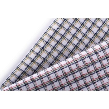 Good quality 100% cotton fabrics new fashion wholesale plaid fabric for shirting