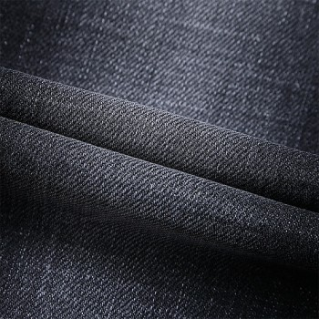 High quality black stretch jeans customized design denim fabric