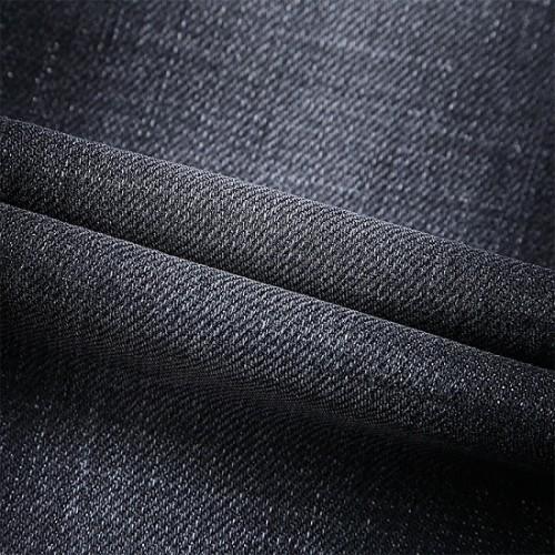 High quality black stretch jeans customized design denim fabric