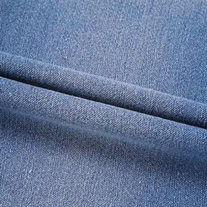 Factory direct sales fashion woven printed knit denim fabric