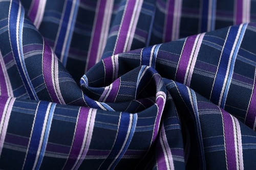Good quality different types of breathable plaid shirt woven fabric
