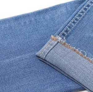 Eco friendly breathable cotton polyester spandex in stock denim fabric