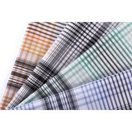 Fashion printed clothing cotton fabric wholesale woven shirt poplin yarn dyed cotton fabric