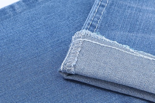 Comfortable woven outdoor cotton polyester high stretch denim fabric
