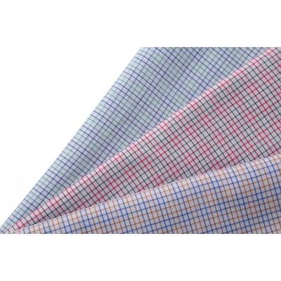 Wholesale custom plaid shirting woven fabric new model fashion 100% cotton fabric for shirts