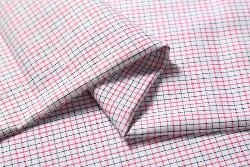 Wholesale custom plaid shirting woven fabric new model fashion 100% cotton fabric for shirts