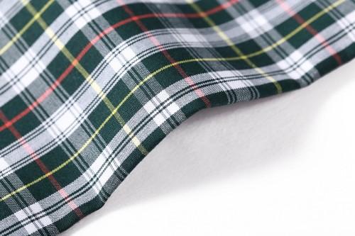 Customized design printed yarn dyed woven cotton shirt mercerizing fabric textile