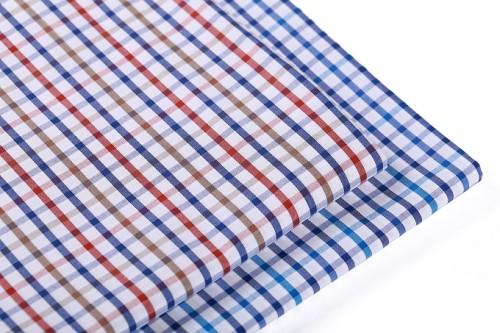 Fashion new design yarn dyed shirt woven wholesale fabric striped 100% cotton fabric