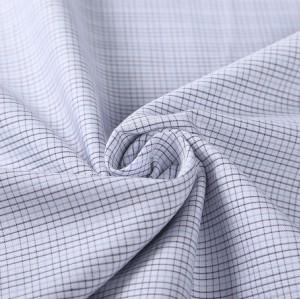 Top quality fashion high density yarn dyed woven textile fabrics wholesale plaid shirt cotton fabric