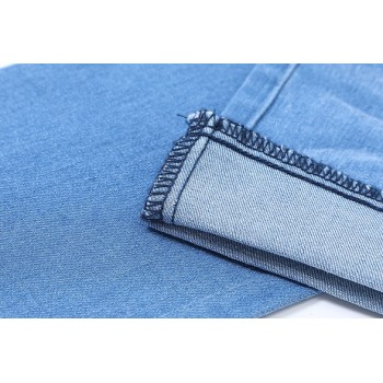 Eco-friendly bulk stock stretchable denim fabric for jeans