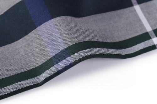 New Style Fashion Egyptian Mercerizing 100% Cotton Fabrics High Quality Stock Shirt Woven Fabric