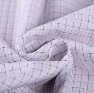 Factory sale new design soft thin check cotton shirting fabric