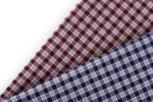 Wholesale price breathable 100% cotton plaid shirts cloth yarn dyed clothes dobby fabric