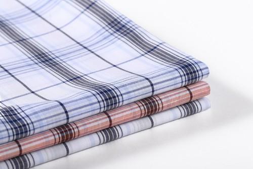 Hot fashion custom plaid clothing textile fabric wholesale high quality 100% cotton fabric for shirt