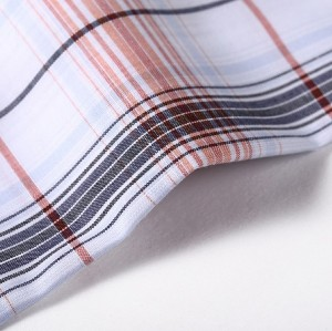 Hot fashion custom plaid clothing textile fabric wholesale high quality 100% cotton fabric for shirt