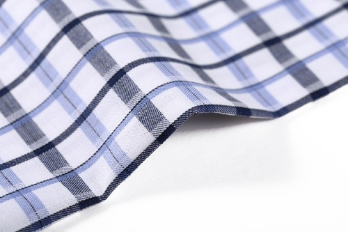 Fashion new design yarn dyed imitation silk finishing 100% cotton dobby fabric