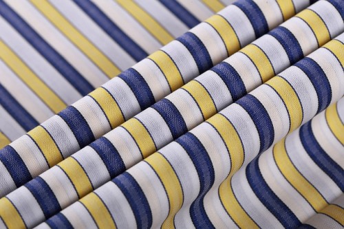Colorful Popular Shirting 100% Cotton Striped Textiles Fabrics Hot Sale Fashion Shirts Woven Fabric