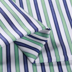 Colorful Popular Shirting 100% Cotton Striped Textiles Fabrics Hot Sale Fashion Shirts Woven Fabric