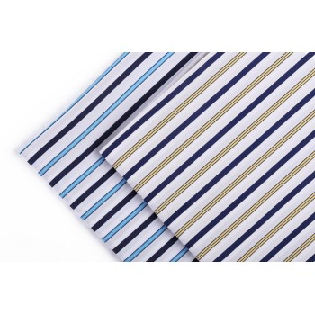 Hot sale fashion striped shirting woven textile fabric high quality wholesale custom 100% cotton fabric