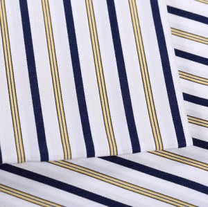 Hot sale fashion striped shirting woven textile fabric high quality wholesale custom 100% cotton fabric