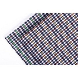 New model custom stock plaid shirt woven fabrics top selling fashion 100% cotton fabric