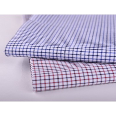 Wholesale factory clothing plaid textile fabric high quality custom shirt pure cotton fabric