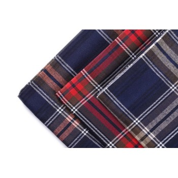 Popular Stock Shirting Woven Textiles Fabrics Hot Sale Plaid 100% Cotton Shirt Fabric For Men
