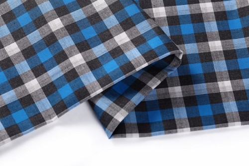 Wholesale color shirting 3d woven check fabric stocklot textile