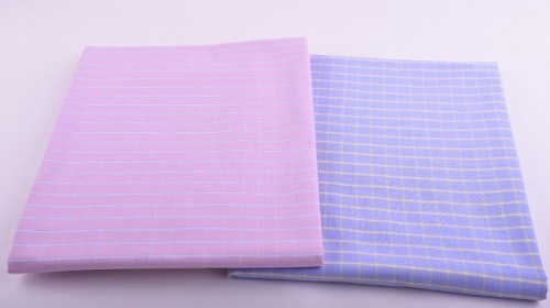 High Density Fashion Checked Shirting Woven Fabrics Wholesale Custom 100 Cotton Shirts Fabric