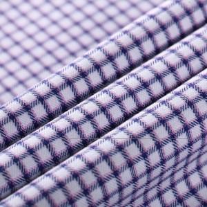 Good design fashion woven plaid shirt 100% cotton guangzhou fabric market