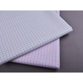 New Model Fashion Egyptian 100% Cotton Shirting Fabrics Popular Custom Check Woven Textiles Fabric