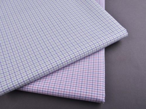 New Model Fashion Egyptian 100% Cotton Shirting Fabrics Popular Custom Check Woven Textiles Fabric