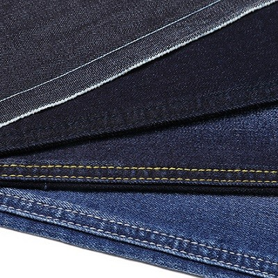 Eco friendly breathable all black stretch good quality denim fabric for jeans