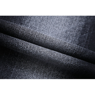 Bulk stock comfortable fashionable stretch woven black denim fabric for jeans