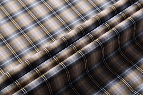 High quality custom plaid shirting woven textile fabric stocklot new style fashion 100% cotton fabric for shirt