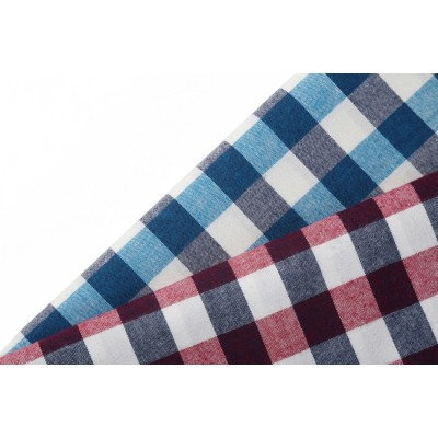 factory prices plaid shirts woven fabric hot sale custom check 100% cotton fabric stocklot